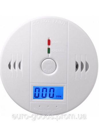 Датчик угарного газа сигнализатор CO(утечка газа) White на батарейка