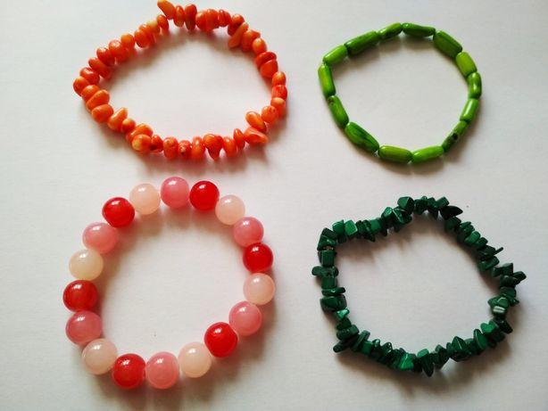 Letnie kolorowe bransoletki damskie wyrób hand made