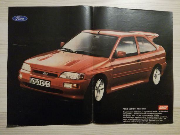 Plakat Poster Ford Escort RS Cosworth 33,5cm x 47cm Cossie 4x4 4WD