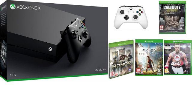 KONSOLA XBOX ONE X + pad + gwarancja plus + 4 gry + spotify gratis!