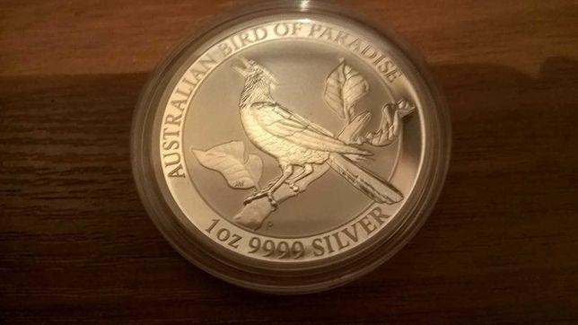 Серебряная монета 1oz Райские птицы Австралия 2019