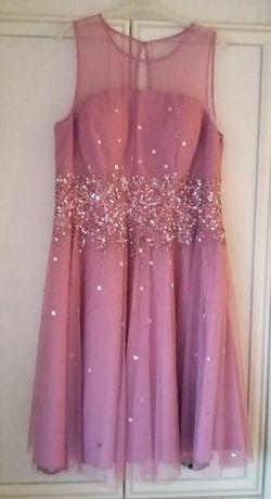 Платье на выпускной нарядное вечернее для дружки сценическое размер 56