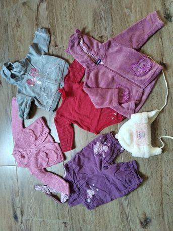 Paka dla dziewczynki r68 ubranka rzeczy ciuchy
