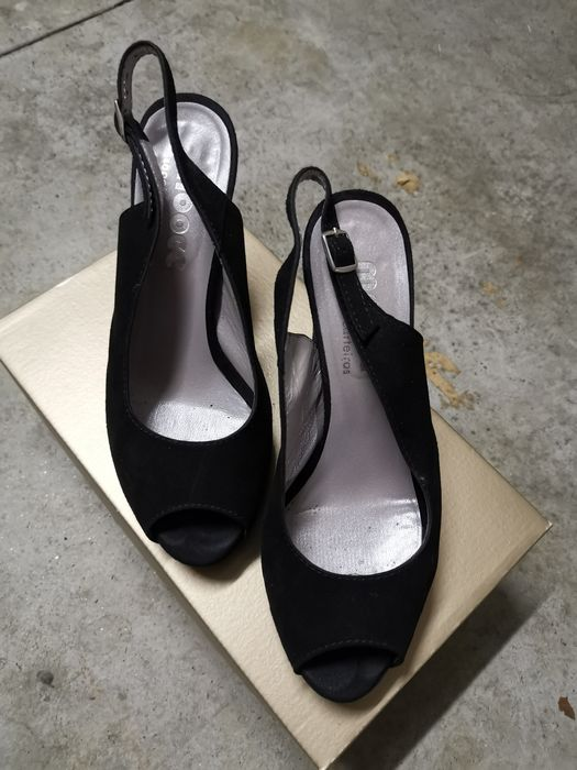 Sapato aberto camurça preto Valongo - imagem 1