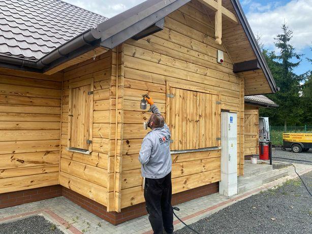Piaskowanie Sodowanie Malowanie mobilnie drewna-cegły-stali
