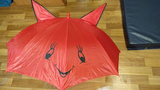 НОВЫЙ Зонтик детский с ушками и свистком зонт