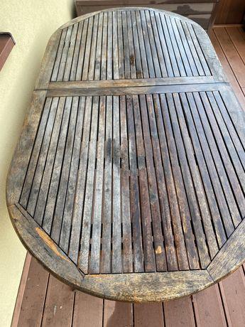 Stół drewniany ogrodowy tarasowy