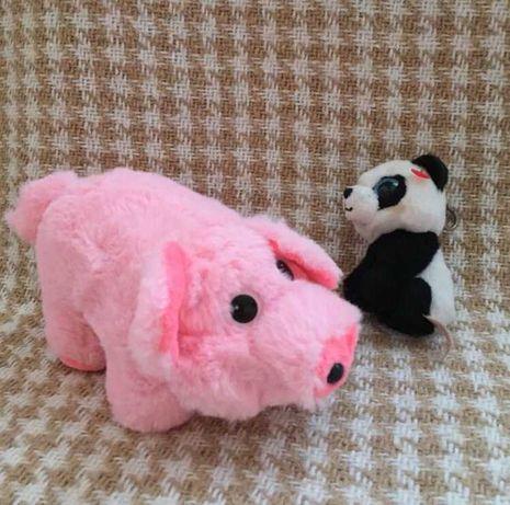 Мягкая игрушка, набор свинка и панда