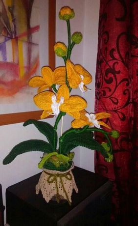 Orquídea em croché