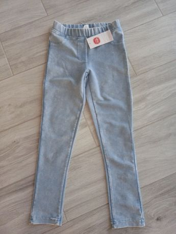 Legginsy spodnie  dziewczęce r 128 NOWE