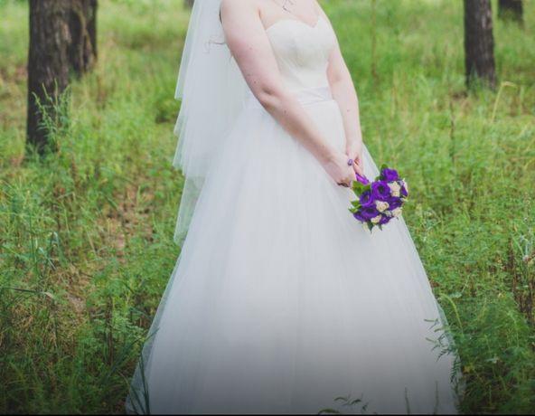 Свадебное платье айвори 48-54 размер