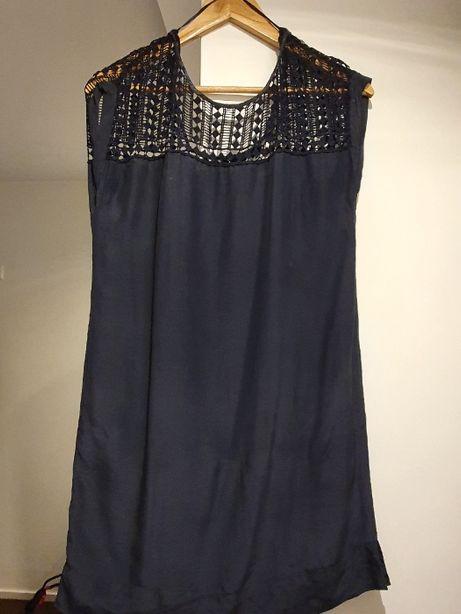 vestido Gupira azul Massimo Dutti