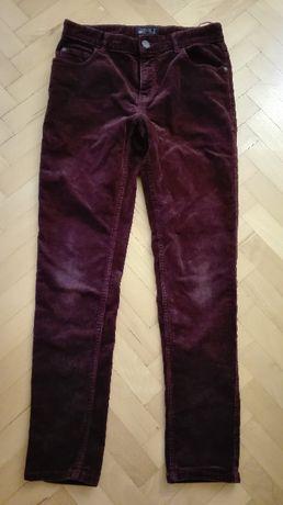 spodnie sztruksy bordowe next r.158