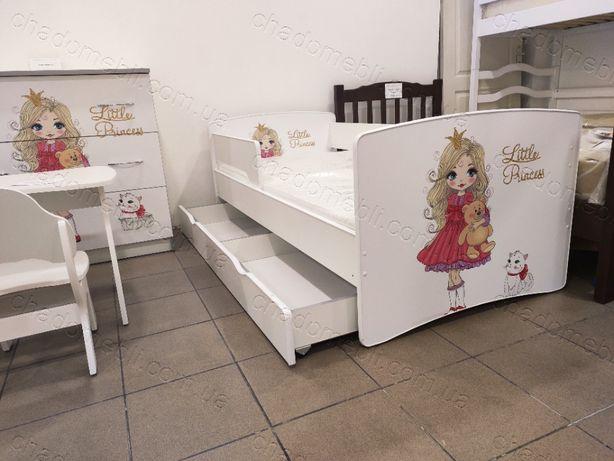 Ліжко з бортиком для дівчинки / кровать для девочки принцеса КіндерКул