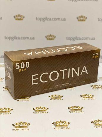Гильзы для сигарет, для табака, сигаретні гільзи ECOTINA 500 1 ящ