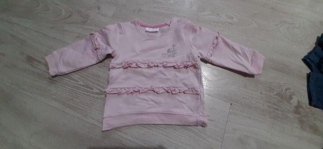 Ciepła bluza dziewczęca 86 12-18 mies