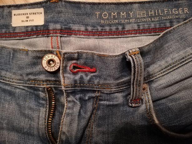 Spodnie męskie Tommy Hilfiger 32/36 slim fit nowy model pas 42 cm