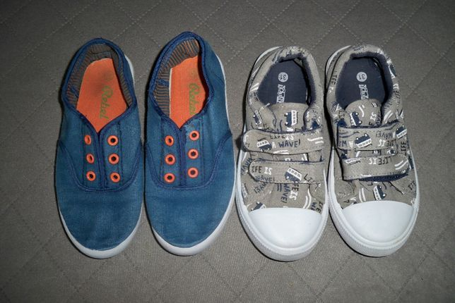 2 pary Trampki pantofle / r 31 do przedszkola, szkoły, po domu, rzepy