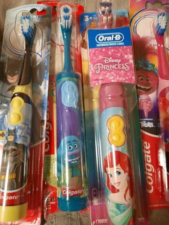 Детские зубные щётки электрические.