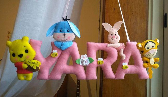 Decoração Porta Criança Pooh