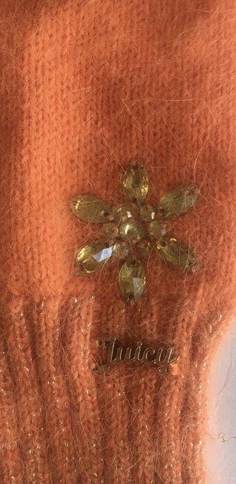 Комплект перчатки шарф JuicyCouture  Джуси Кутюр оригинал зима новый Инженерный - изображение 1