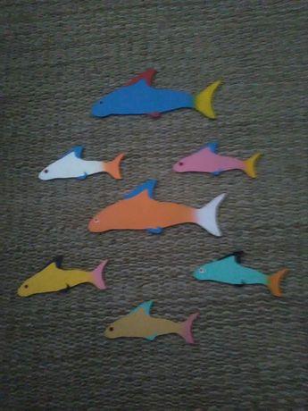 Espanta espiritos com peixes quarto de criança