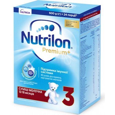 Nutricia Смесь Nutrilon Premium+ 3, 600г (картон) нутрилон нутриция