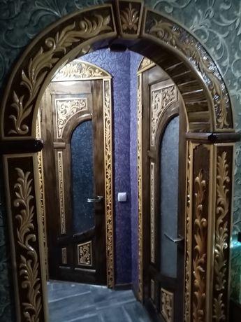 Резные арки, двери, обналичка под заказ.