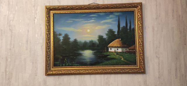 Современное искусство украинский автор пейзаж картина украинское село