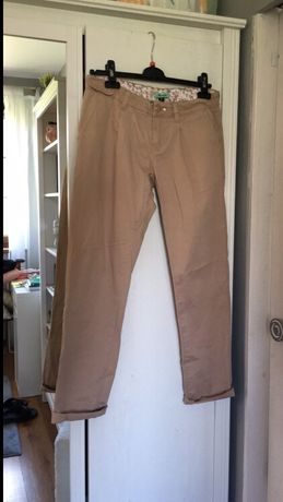 Beżowe spodnie Moodo r. M