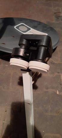 2 Anteny satelitarne 90cm,70cm oraz konwenter 4 wyjścia i podwójny