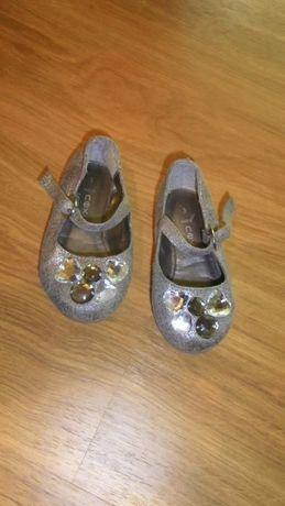 Buciki Pantofelki szare z cekinami rozm 19