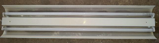 Calha-suporte P/ 2 Lâmpadas Fluorescente Tubular 1,20m