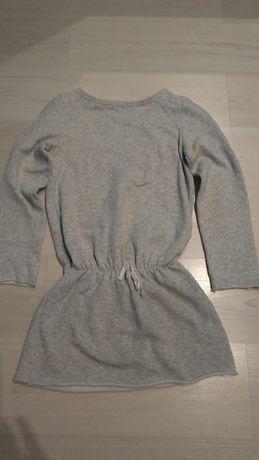 Szara, dresowa sukienka