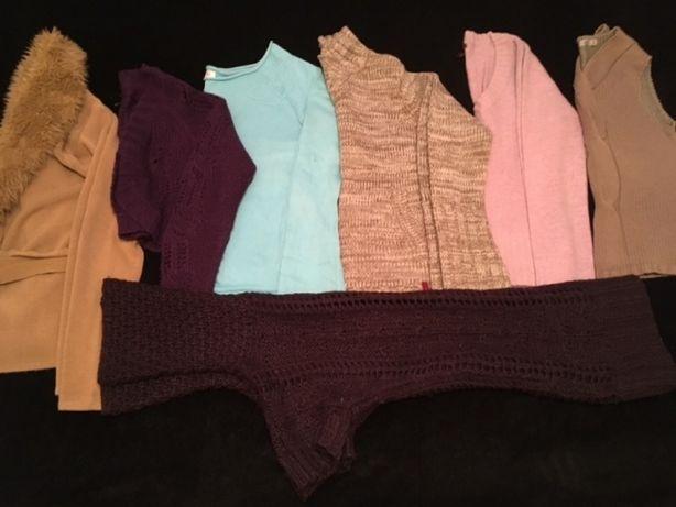 Zimowa paczka damskich swetrów zestaw 7 sztw rozm 36 S Orsay Carry H&M