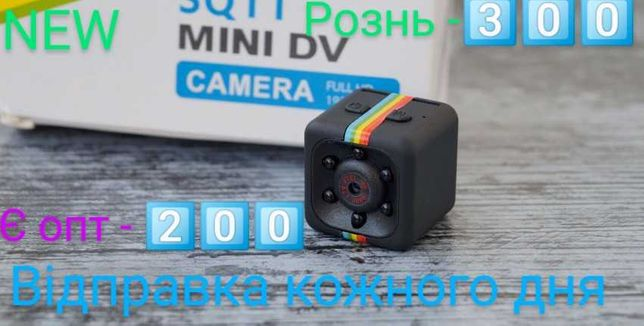 New Мини камера SQ11 с ночной подсветкой, датчиком движения