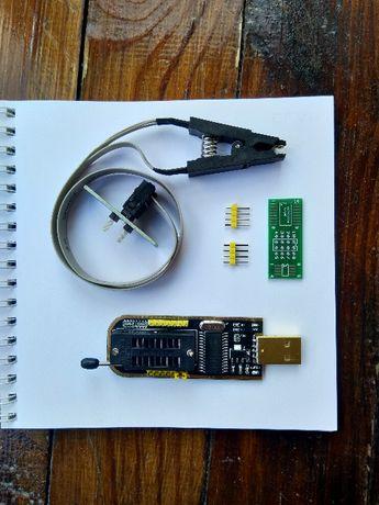 Програматор CН341A + SOIC8 SOP8 адаптер-прищепка