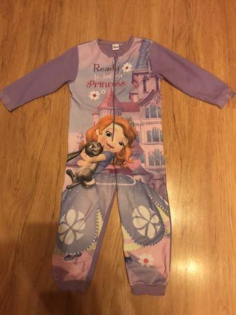 Disney księżniczka Zosia piżama pajacyk polarowy rozm. 116/122!!!