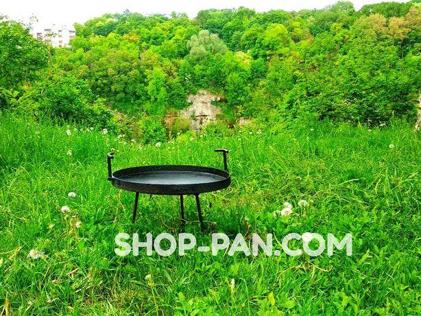 Сковорода из диска походная 30см для костра, дачи походов пикников