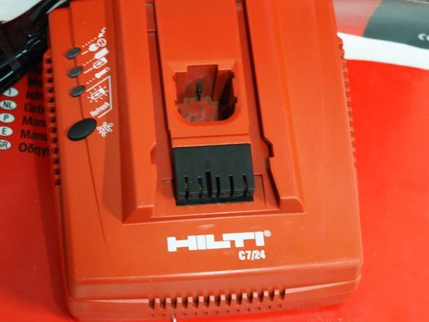 HILTI ladowarka 7/24 bateria NI-CD,NI-MH 9.6v 12,15,6v,18v,24v aku