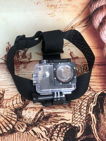 Кріплення на голову для екшн камери з водонепроникним боксом