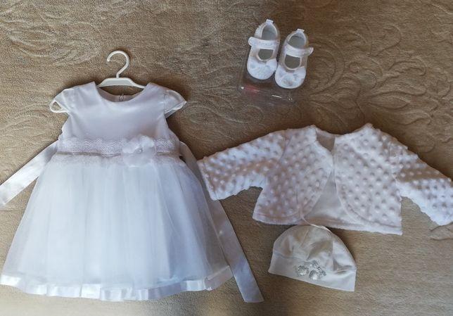 Sukienka dziewczęca - komplet do chrztu