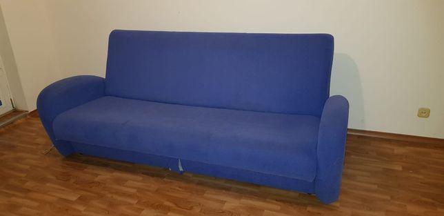 kanapa używana niebieska + inne meble