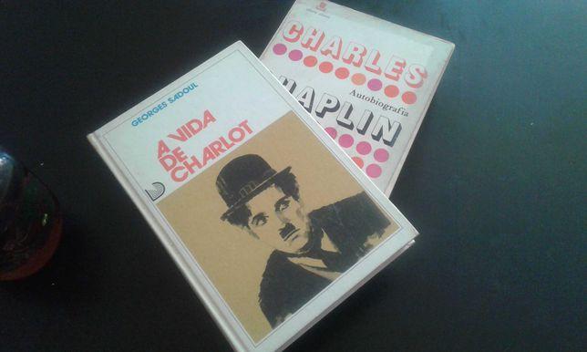 2 livros Charles Chaplin