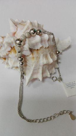 Piękna srebrna bransoleta próba 925
