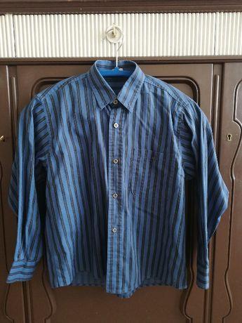Koszula Chłopięca Niebieska W Paski Długi Rękaw Elegancka Galowa 128