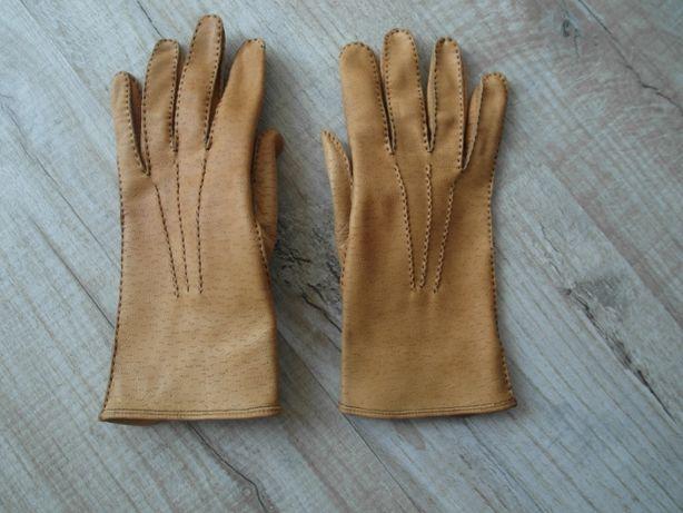 Кожаные женские перчатки /размер 7,5