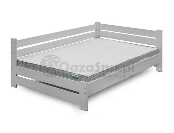 łóżko drewniane mega solidne z oparciem REVEL 90x210