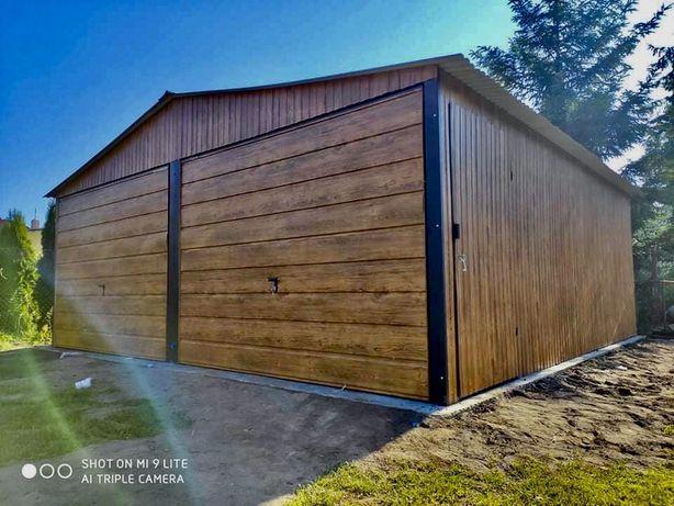 Garaz blaszany Blaszak schowek garaze budowa dom dzialka wiata hala