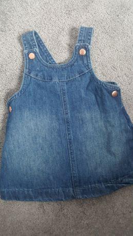 Sukienka jeans rozm. 68 f&f